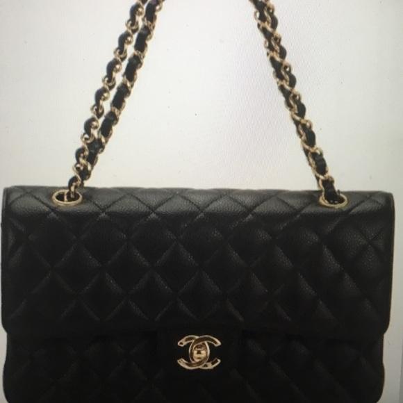 90a20edcf026a CHANEL Handbags - Chanel Classic Double Flap Black Medium Gold Chain